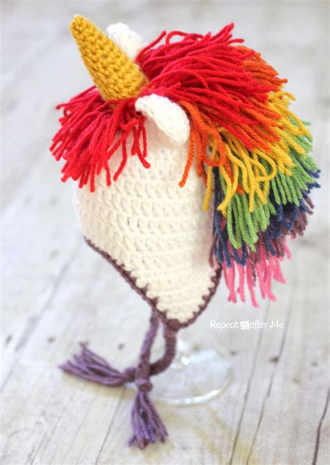 crochet pattern unicorn hat crochet unicorn hat pattern repeat crafter me