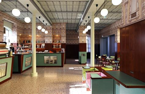 Designboom Wes Anderson | wes anderson envisions eccentric film set for bar luce at