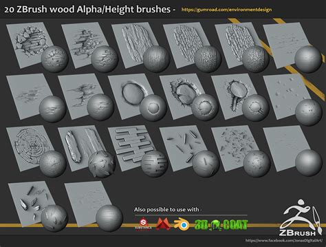 zbrush tutorial download free 20 brushes and alpha height maps download https