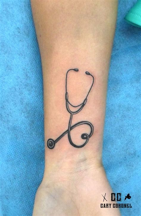 nursing and tattoos stethoscope my work
