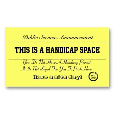 Bad Parking Business Card Template by 22 Best Images About You At Parking Cards On
