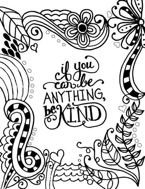 kind words coloring page coloring page world if you can be anything be kind