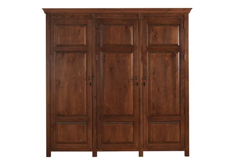 Wooden Wardrobes Uk - 3 door wardrobe in solid wood from revival beds