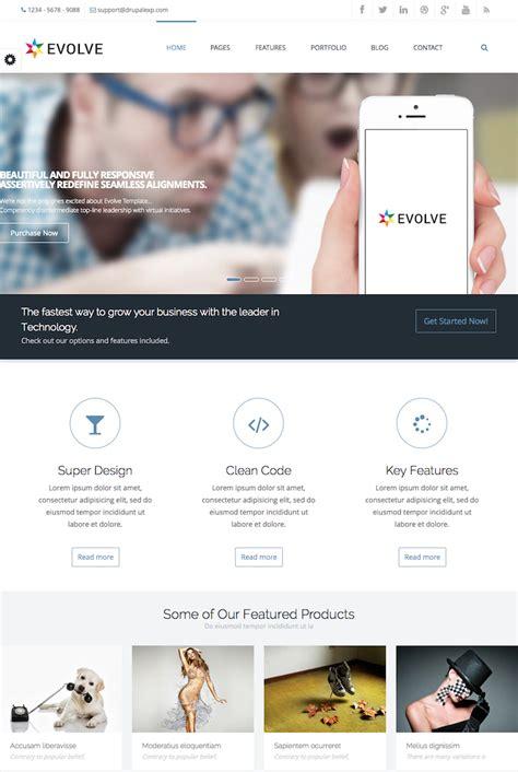 drupal theme evolve evolve multipurpose creative drupal theme best designers