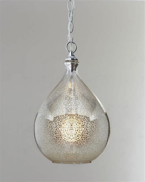Mini Pendants Lights For Kitchen Island by Mercury Glass Pendant Light For The Home Pinterest
