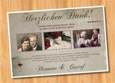 Danksagungskarten Hochzeit by Goldene Hochzeit Danksagungskarten