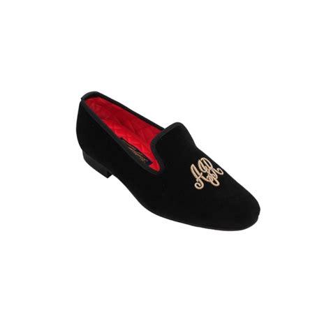 monogrammed slippers black monogrammed slipper bowhill and elliott