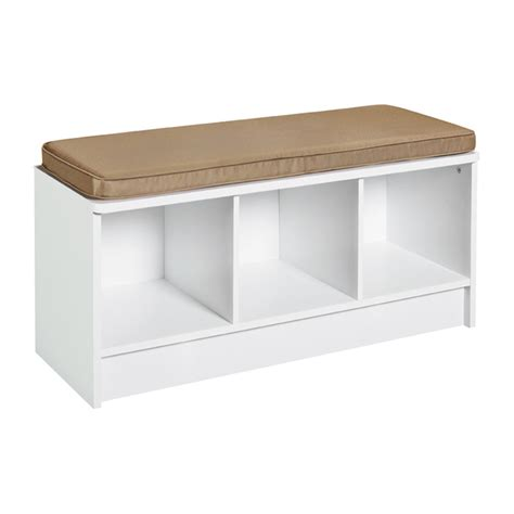 closetmaid bench cushion quot cubeicals quot 3 cube bench 18 5 quot x 35 27 quot white rona
