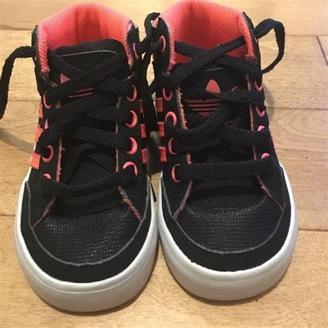 67 adidas other baby adidas shoes 4 black and bright pink from s closet on poshmark
