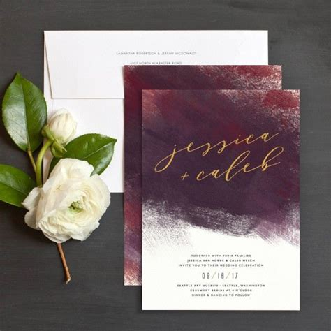 wedding invitations burgundy and gold burgundy and gold wedding invitation burgundy wedding gold weddings gold and