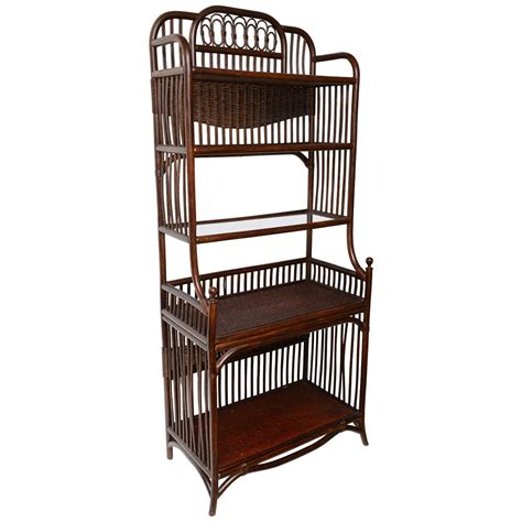 etagere 6 cases aesthetic manner bamboo book or etagere at 1stdibs