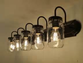 mason jar bathroom light fixture de 25 bedste id 233 er inden for bathroom lighting fixtures