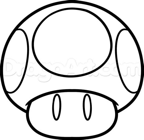 how to draw the mario mushroom step by step video game