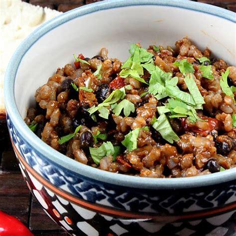 vegetarian bean and rice recipe vegetarian cuban rice and beans recipe popsugar fitness