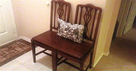 Repurposed Dining Chairs by Silver Trumpets Repurposed Antique Chairs Bench
