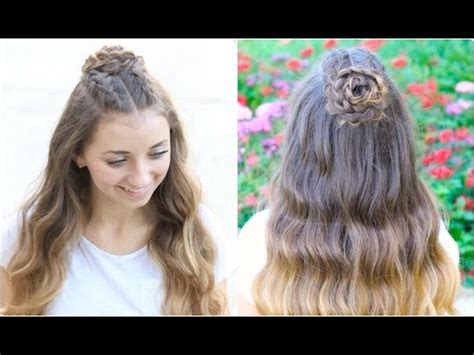 half up half down hairstyle dailymotion half up bow combo cute girls hairstyles vidoemo