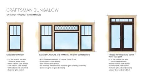 Craftsman Style Windows Decor Craftsman Bungalow Home Style Exterior Window Door Details Center Window Exle Is