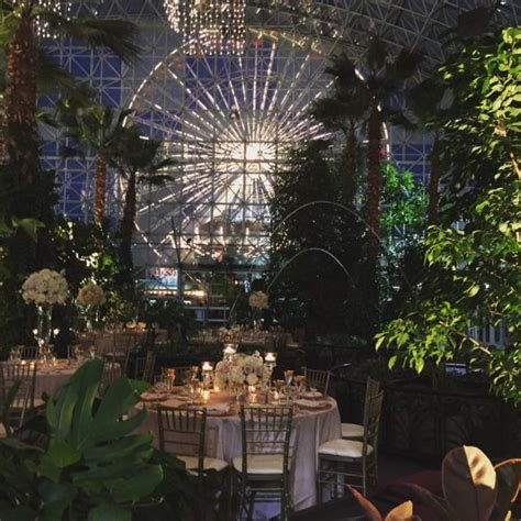 Navy Pier Botanical Garden Enchanting Evening Wedding At The Gardens At Navy Pier With The Iconic Ferris Wheel In