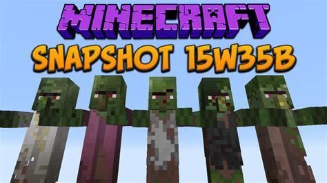 minecraft tutorial zombie villager minecraft 1 9 snapshot 15w35b new zombie villager skins