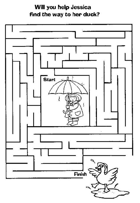 printable preschool worksheets mazes printable kindergarten maze worksheets fall activity