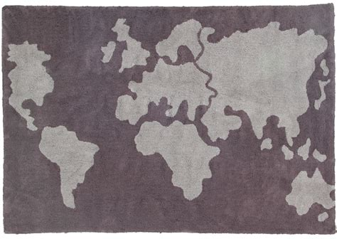 world map rugs world map cotton rug in grey by canals