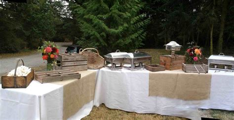buffet simple country wedding reception ideas for a under