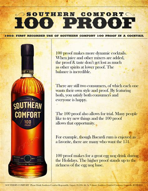 what is similar to southern comfort southern comfort 100 proof sell sheet by drew mccarver on