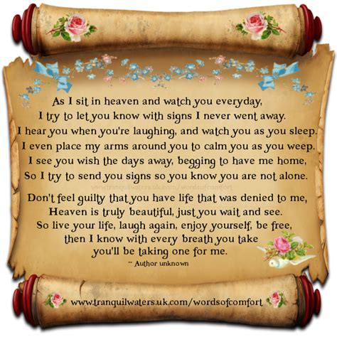 Words For Comforting A Loss Of Loved One by Comfort For Loss Of Loved One Quotes Quotesgram