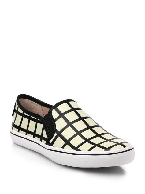 black patterned shoes kate spade new york leather patterned slip on sneakers in