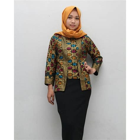 model blouse batik muslimah lace henley blouse