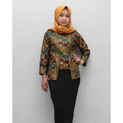 Model Blouse Batik Muslimah   Lace Henley Blouse