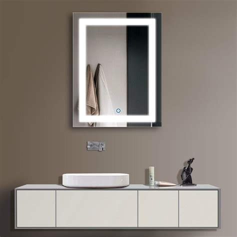 decoraport vertical led illuminated lighted bathroom wall mirror  touch button ebay