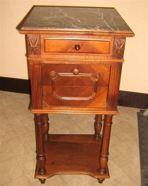 Antique Commode Cabinet by Antique Walnut Commode Chamber Pot Cabinet Marble Top