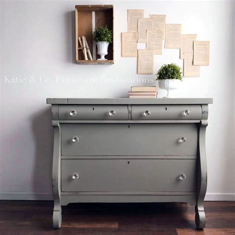 chalk paint gray dresser empire gray chalk style paint dresser general finishes