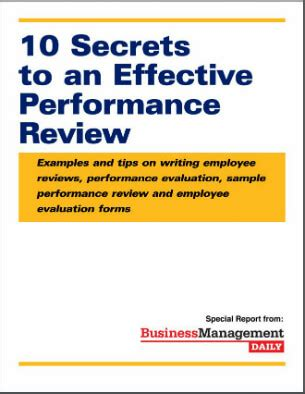 10 secrets to an effective performance review: examples