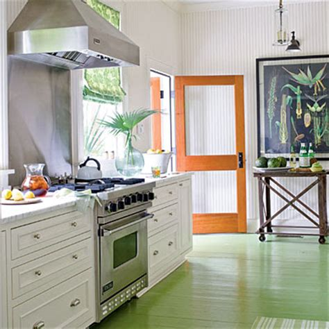 painted kitchen floors whitehaven beach house kitchens