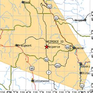 Area 0 4074 square miles most populous zip code 83543