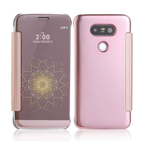 Casing Silicone Mirror Kaca Lg G5 Silver for lg g5 protective mirror clear view window slim smart leather flip cover ebay
