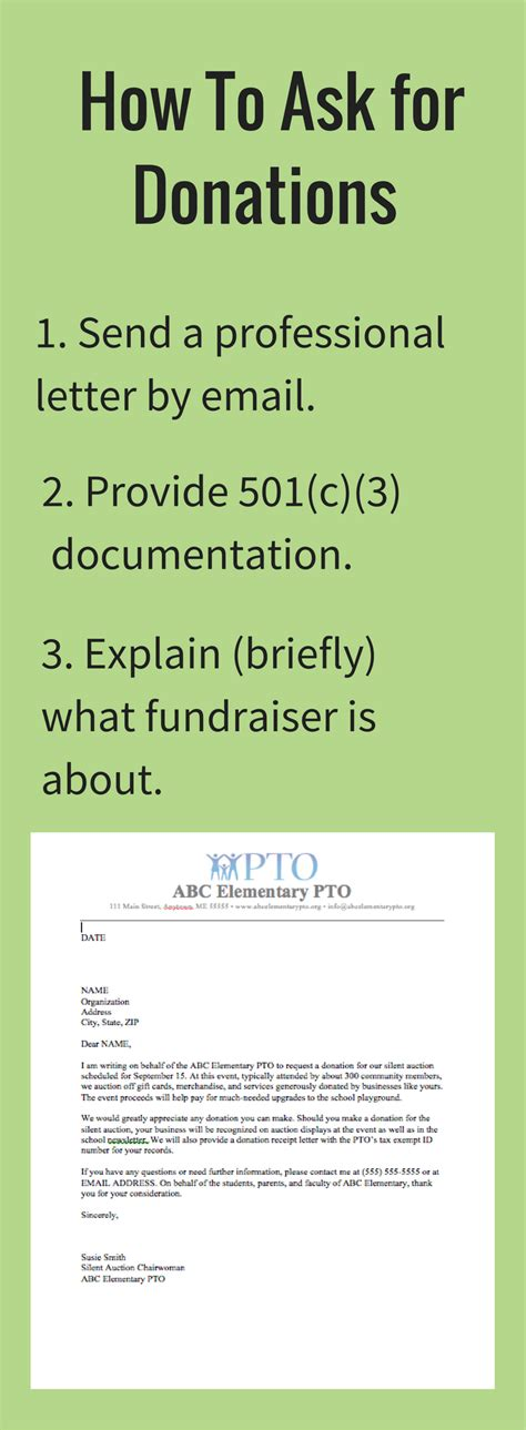 donation letter request template