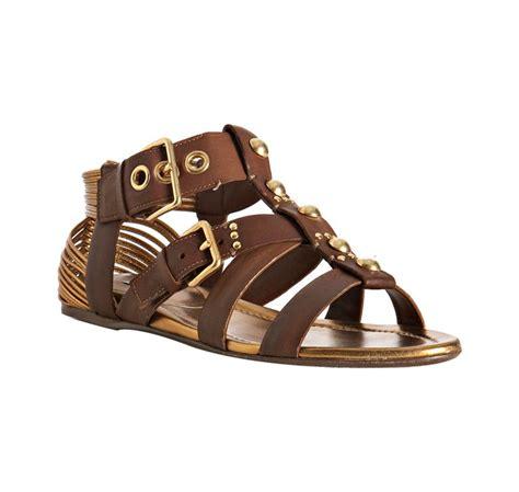 gladiator sandals brown miu miu brown leather studded gladiator sandals in brown