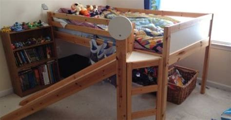 bunk bed with slide ikea ikea loft bed with slide my kids would love this