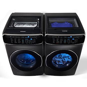 samsung samsung 6 0 total cu ft flexwash washer 7 5 cu ft flexdry electric gas dryer