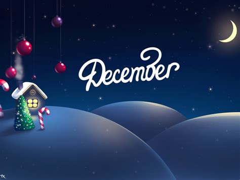wallpaper december christmas decoration house tree  moon snow hd celebrations