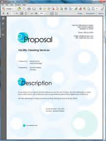 janitorial services sample proposal