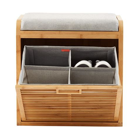 bamboo storage bench lotus bamboo storage bench the container store
