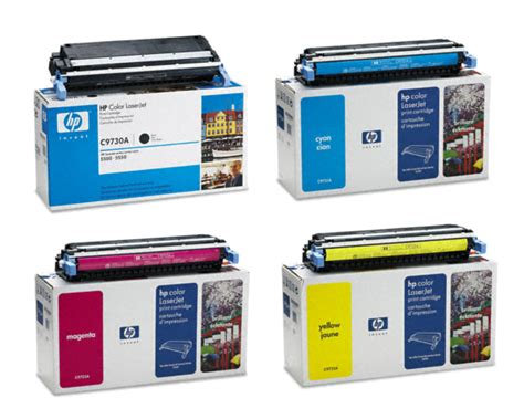 color toner hp color laserjet 5550dn toner black cyan magenta yellow