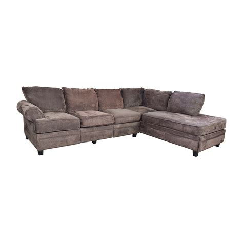 sectional sofa with storage 55 off bob s furniture bob s furniture brown sectional