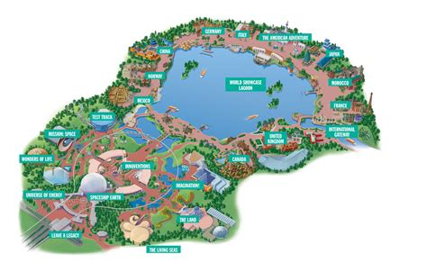 map of epcot disney parks epcot map and epcot photos orlando vacation home rentals near disney orlando