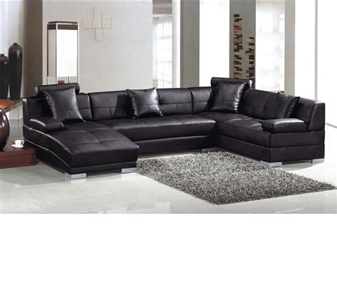 dreamfurniture 3334 bonded black ultra modern