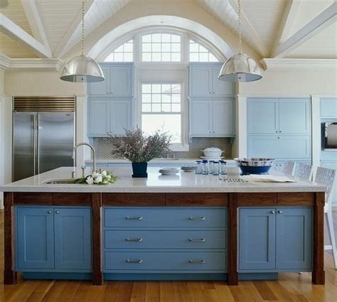 blue color kitchen cabinets mueble de cocina color azul